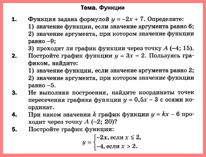 Алгебра 7 Мерзляк Контрольная работа 6