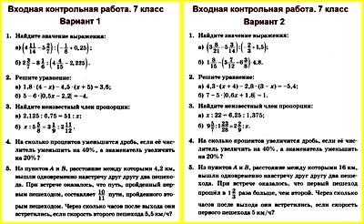 Алгебра 7 контрольные работы колягин 5345