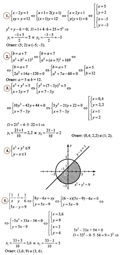 Алгебра 9 Макарычев Ответы на Контрольную № 5