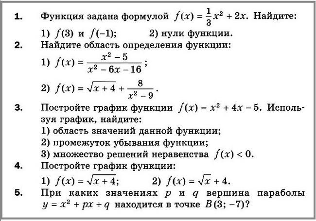 Алгебра 9 Мерзляк К-2 В-2