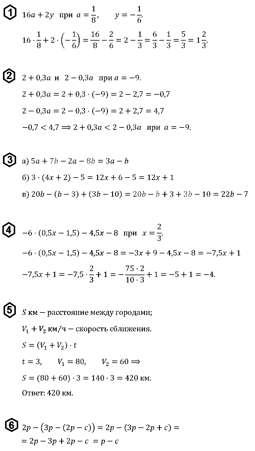 Алгебра 7 Макарычев КР-1 В2
