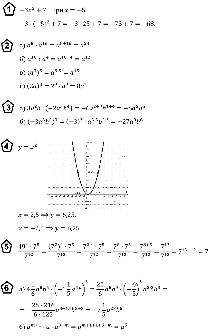 Алгебра 7 Макарычев КР-4 В3
