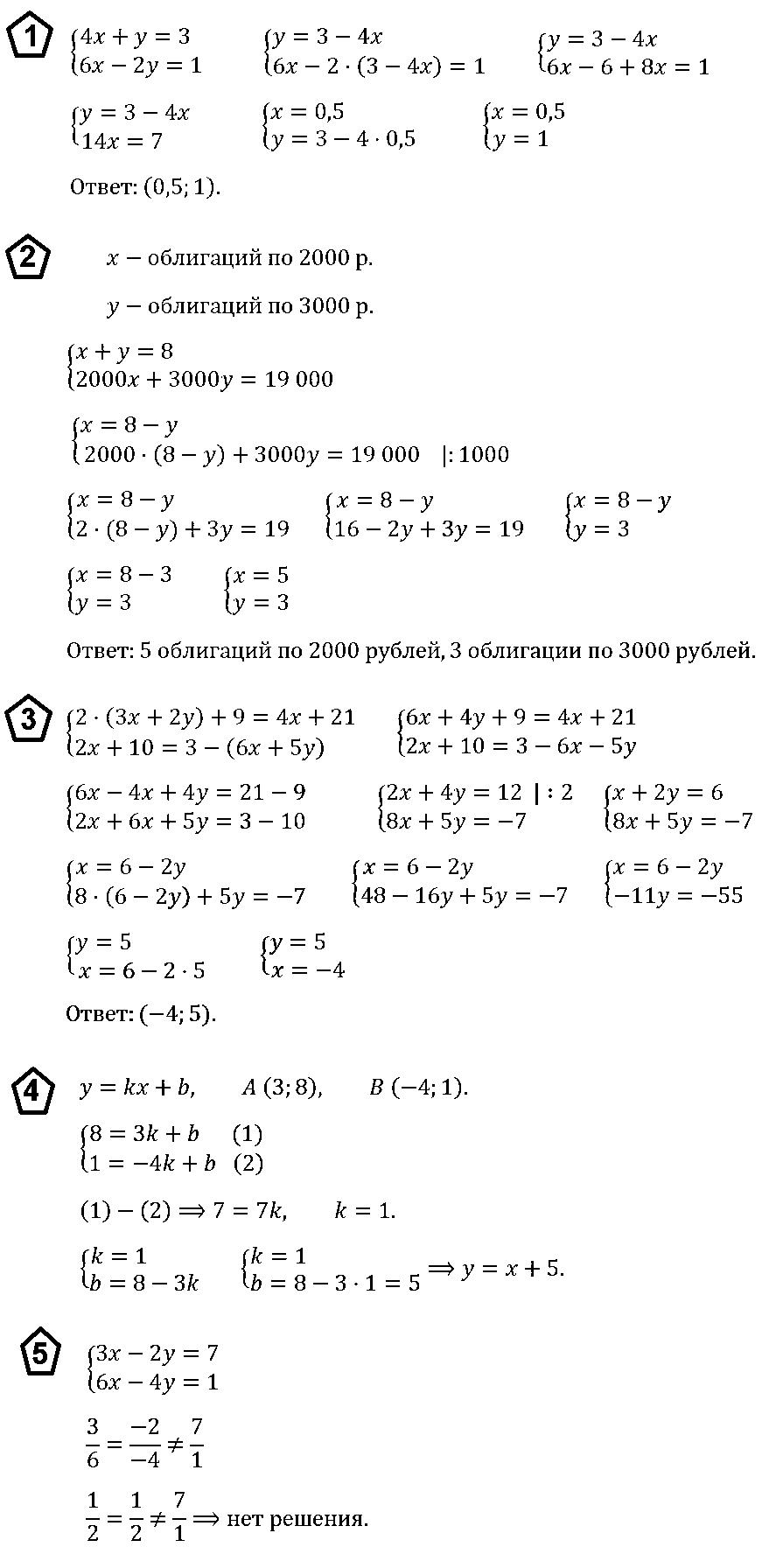 Алгебра 7 Макарычев КР-9 В1