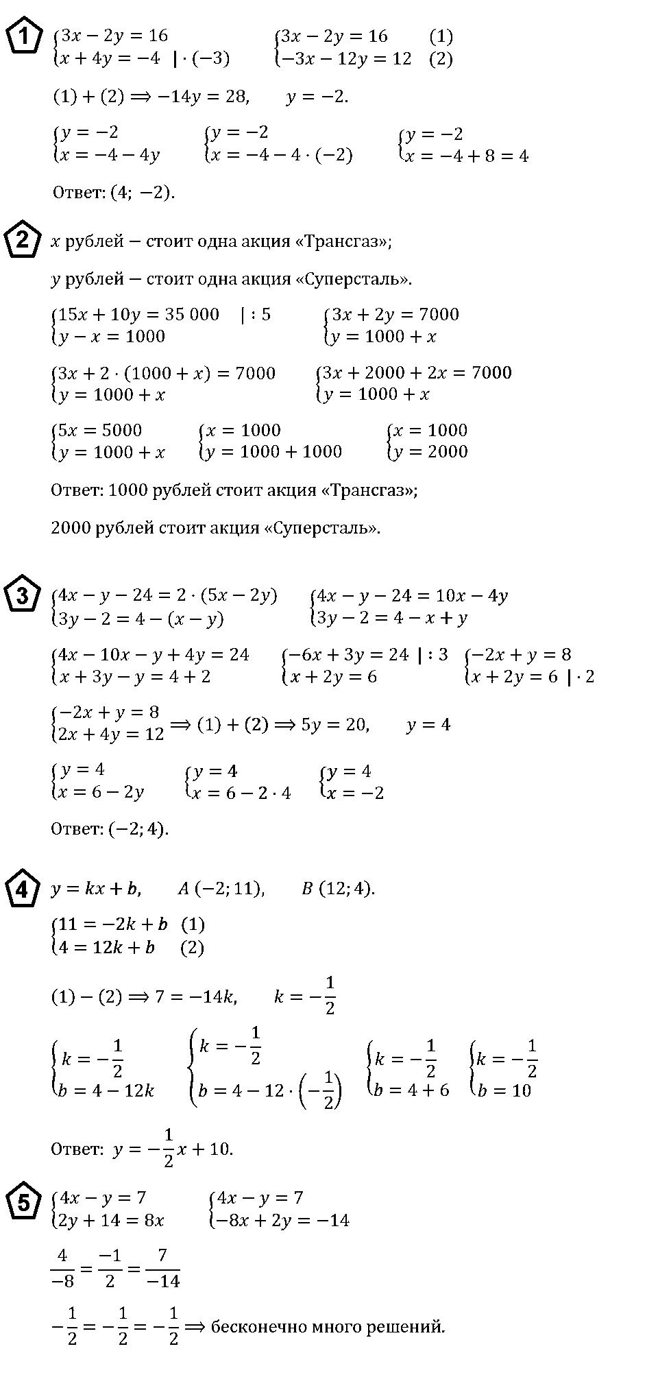 Алгебра 7 Макарычев КР-9 В4
